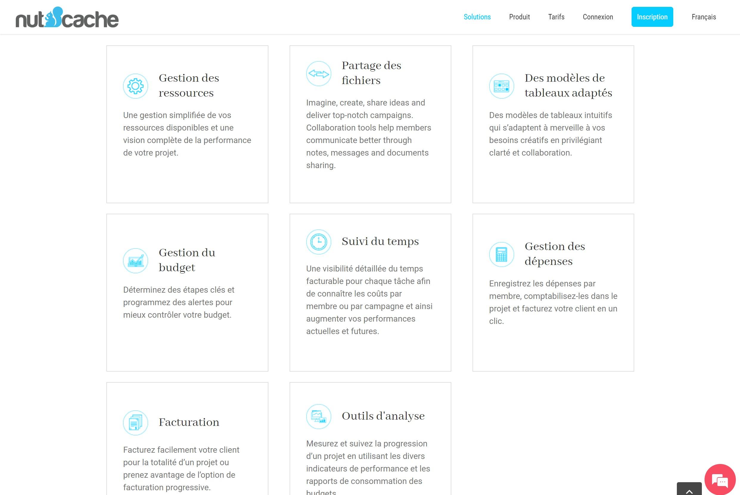 Nutcache - outil de gestion de projet collaboratif
