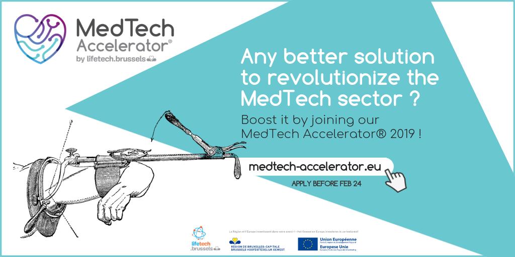 Rejoignez le MedTech Accelerator® 2019 et boostez le développement de votre dispositif médical!