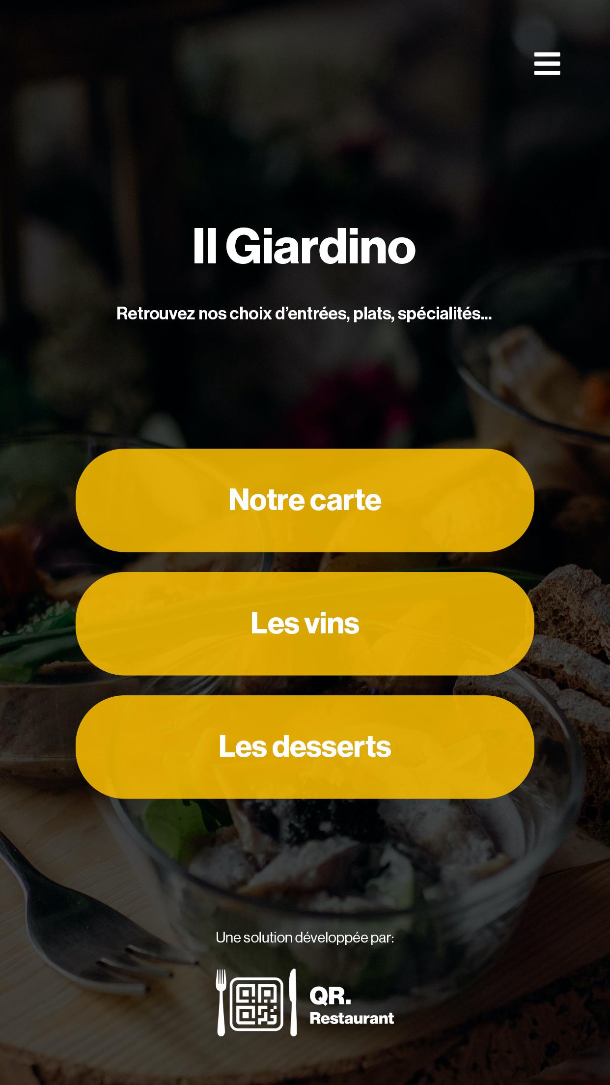 Votre menu digital 3.0 ! Testez gratuitement.